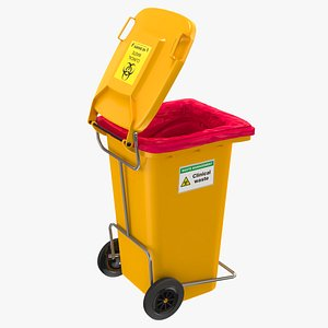clinical waste wheelie bin 3D model