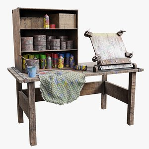 painting workbench 3D model