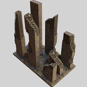 Destroyed Ruin Abandoned Buildings model