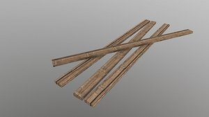3D model Low Poly Wooden Planks