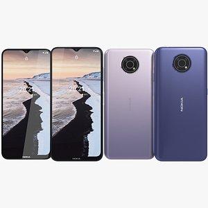 3D Nokia G10 Both Colors
