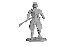 USSR Red Army infantry  3D Print 3D model