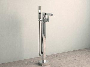3D model floor-mounted tap