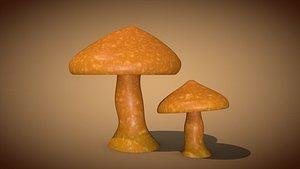 3D mushroom fungus nature