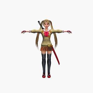 Girl ninja 3D