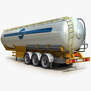 3D semi truck 02 trailer