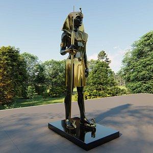 3D pharaonic statue