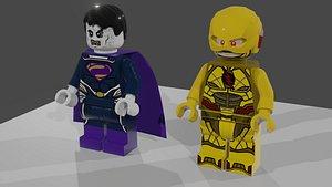3D LEGO DCEU Bizarro and Reverse Flash
