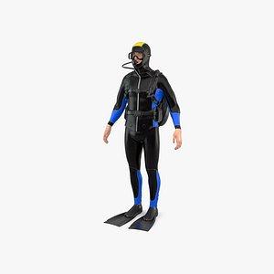 3D Diver model