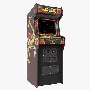 Joust Arcade Cabinet Williams 1982 3D model