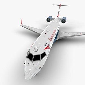 3D model arrows bombardier crj 200
