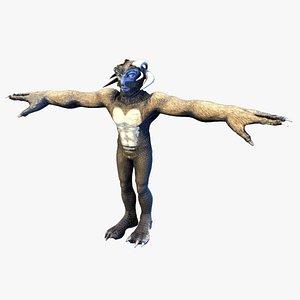 3D alien creature fantasy