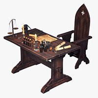 Stylized Alchemist Desk