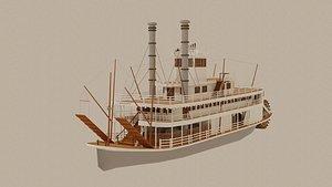 3D model steamboat