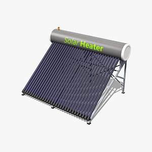 3D model 40 Gallon Solar Water Heater