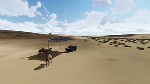 3D algeria desert landscape architectural design model