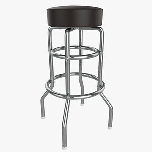 Retro  Bar Stool Tall Chair 3D model