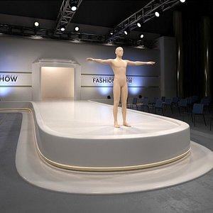 3D model catwalk stage