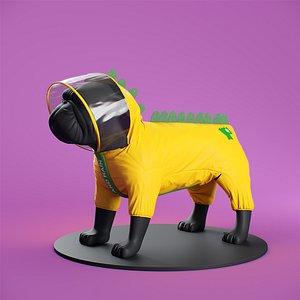 3D Mondog pet outfitters raincoat model