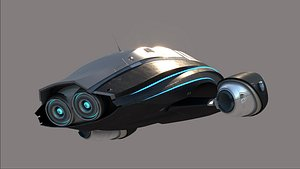 3D model sci-fi dr0920