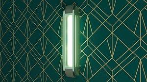 3D Art Deco style wall Lamp model