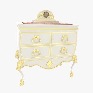 Victorian Dresser White 3D