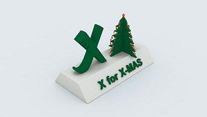 3D children learning printable model