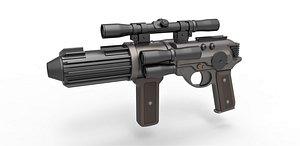 3D Carbine Rifle EE-4 model