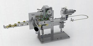 Cable feeding and cutting mechanism 3D model