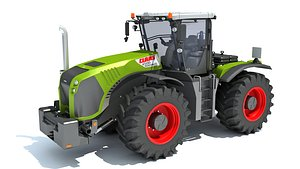 claas xerion tractor 3D model