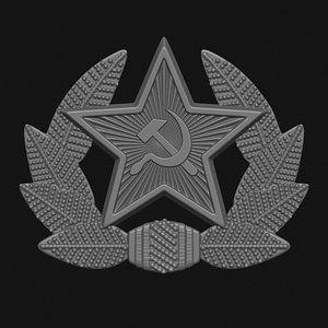soviet hat badge model