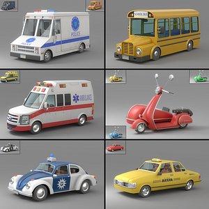 3D Cartoon Car Collection V5