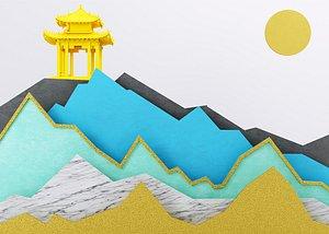 3D Pagoda model