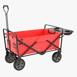 Mac Sports Collapsible Folding Outdoor Utility Wagon Red 3D model