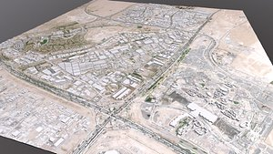 3D CityscapeDubai Investment Park Dubai United Arab Emirates model