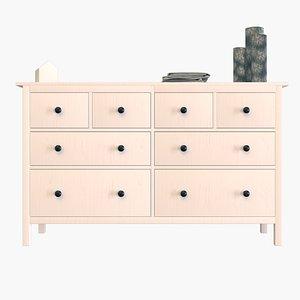 Ikea Hemnes Dresser 3D