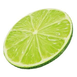 Lime round slice 2 3D model