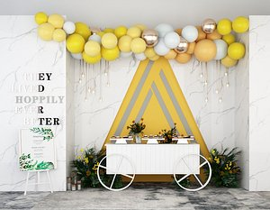 3D wedding balloon lobby