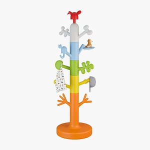 Magis Paradise Tree Coat Stand for Kids 3D