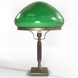 3D model retro lamp 1940s
