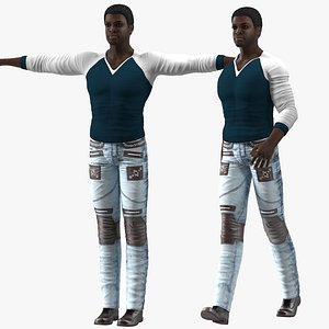 afro american man city 3D model