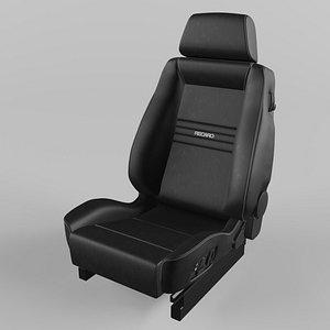 3D RECARO Ergomed ES Leather black Seat
