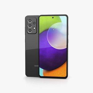 Samsung Galaxy A52 Awesome Black 3D model
