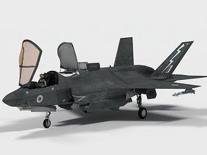 Lockheed F-35B British decals 3D model