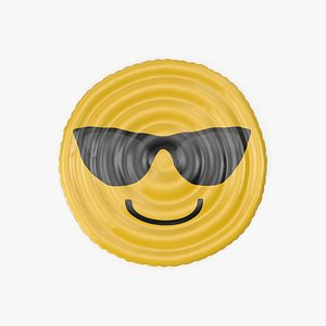 Emoji Faces Printable Pool Float 3D model