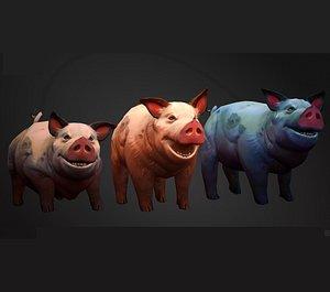 Stylized Pig 3D model