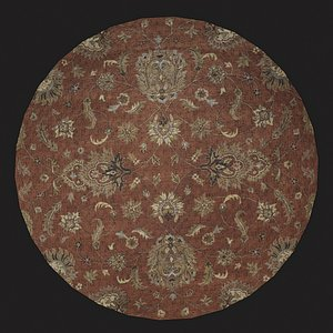 Medieval Round Tapestry Three 3D model