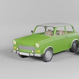 3D model trabant 601 combi
