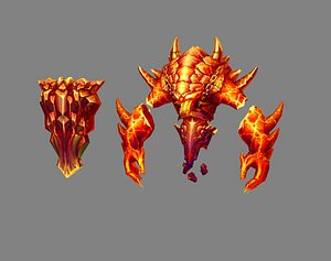 Cartoon summon monster - Flame Demon - Fire Demon 3D