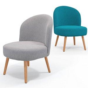 Vintage armchair Quilda 3D model